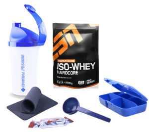 ESN IsoWhey Whey Iso Hardcore Protein Eiweiss 1000g  + Bonus