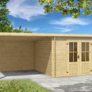Gartenhaus ca. 6x3 m Gerätehaus Blockhaus Schuppen Holzhaus Holz 28 mm