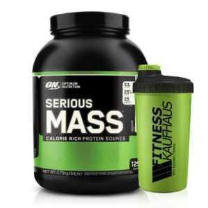 (11,70 EUR/kg) Optimum Nutrition Serious Mass 2727g Weight Gainer + Shaker