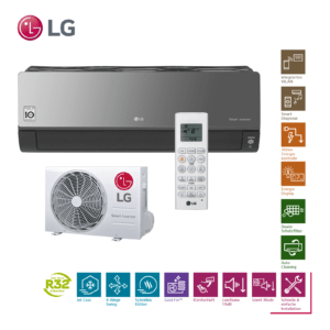 LG Artcool AC12BQ R32 3,5kW Klimaanlage Inverter Klimagerät Wärmepumpe; EEK A+++