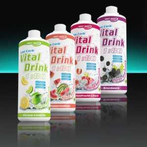 9,74€/L Best Body Nutrition 4 x 1000 ml Vital Drink Getränkesirup Sirup 1:80