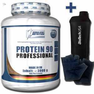 Protein 90 Eiweißpulver 3000g Premium Shake Reich an Glutamin + Whey Isolat 3 Kg