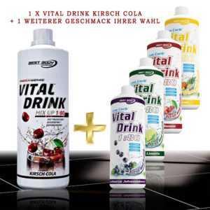 9,98€/L Best Body Low Carb Vital Drink 2 x 1L. Mineraldrink Kirsch Cola Angebot