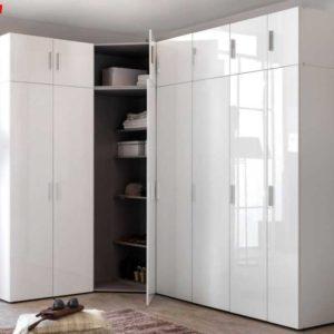 Wimex Schranksystem Kleiderschrank Aufsatz Eckschrank Hochglanz weiß 6 Breiten