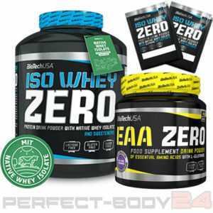 (25,95€/kg) Iso Whey Zero 2,27kg + EAA Zero 350g Dose BioTech USA + 2 Proben