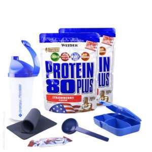 ++ 2 x Weider Protein 80 Plus (2x 500g Beutel Eiweiss + BONUS) ++