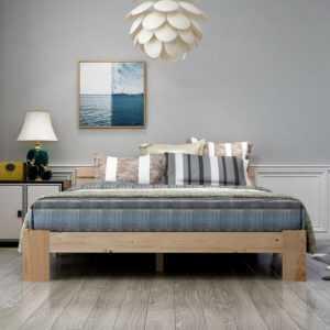 ModernLuxe Holzbett FSC Doppelbett mit Kopfteil 200 x 140 cm mit Lattenrost
