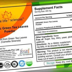Organisch Grüner Tee Blätter Pulver Polyphenol Egcg Antioxidantien