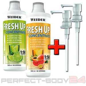 (14,99€/L) 2x Weider Body Shaper Fresh Up Konzentrate Mineralien + Mega Bonus