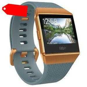 Fitbit Ionic schieferblau/kupfer Smartwatches Fitnesstracker Fitnessuhr