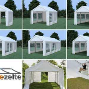 Partyzelt PE / PVC 3x2 - 4x10 m Festzelt Pavillon wasserdicht Profi-Qualität NEU