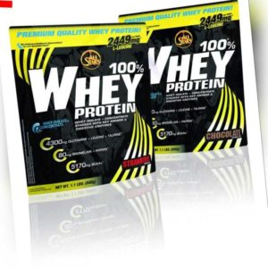 (31,57EUR/kg) 2 x All Stars - 100% Whey Protein 500g Beutel