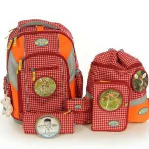 Schulranzenset Loop Rehkitz für Mädchen 7 Teilig Tornister Schulrucksack Set