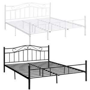 [en.casa]® Metallbett 140/160/180/200x200cm Bett Bettgestell Doppelbett Jugend