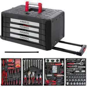 Arebos Werkzeugkoffer Werkzeugbox Werkzeugset Werkzeugkasten Werkzeugkiste