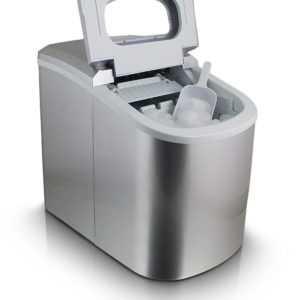 Eismaschine Eiswürfelmaschine Icemaker Ice Cube Maker Eiswürfelbereiter Silber
