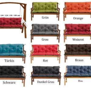 Gartenbankauflage Bankauflage Bankkissen Sitzkissen Polsterauflage Sitzpolster