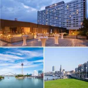 HILTON Hotel Düsseldorf exklusives Wochenende 2 Personen Kurzurlaub 2 od. 3 Tage