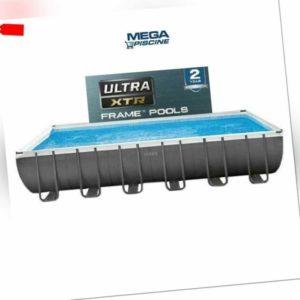 Intex 26374 Ultra Frame Aufstellpool rechteckig groß 732x366x132 XTR NEW MODEL