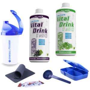 10,50€/L Best Body Vital Mineraldrink Konzentrat (2x 1L Flasche + Bonus)