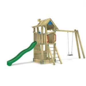 WICKEY Spielturm GIANT Treehouse G-Force Öffentlicher Bereich Spielplatz EN1176