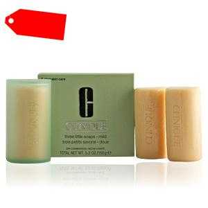 Clinique - 3 LITTLE SOAPS mild with dish 150 gr ab 18.33 (26.50) Euro im Angebot