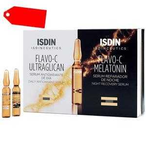 Isdin - ISDINCEUTICS Flavo-C Melatonin + Ultraglican 10 + 10 ampollas ab 32.31 (36.00) Euro im Angebot