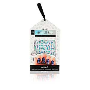 Oh K! - SHATTERED NAILS sheet 120 faceted nail stickers & nail tweez ab 5.83 (6.00) Euro im Angebot