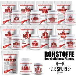 Bodybuilding Arginin BCAA Beta Alanin Creatin Glutamin Citrullin Malat GABA MSM