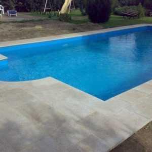 Pool Set P40 4x8m; 0,8 F + röm. Treppe Swimmingpool Rechteck Styroporbecken