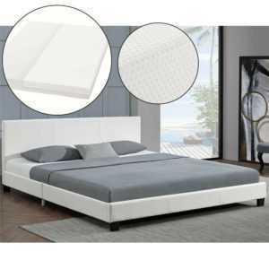 Polsterbett Doppelbett Kunstlederbett Bettgestell mit Matratze 180x200 ArtLife®