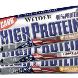 Weider 40% High Protein Bar 24x 50g (27,95€/Kg) Riegel mit 40% Eiweiß