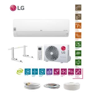 LG Deluxe DC09RQ R32 2,5 kW Klimaanlage Klimagerät + Quick Connect 6 Meter; EEK A++