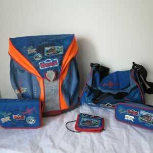 Scout Schulranzen Set 5 teilig Nano Truck Gebraucht Jungen Ranzen Schultasche