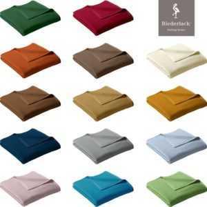 Biederlack Wohn und Kuscheldecke Uno Cotton Sofadecke Couchdecke Wolldecke Decke