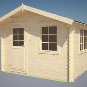 34 mm Gartenhaus Mosel + Fussboden Gerätehaus Blockhaus Holz Haus Datsche