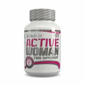 (18,77 EUR/100 g) Biotech USA Pink Fit Active Woman 60 Tabletten NEU OVP