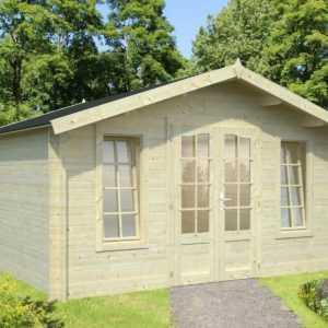 Gartenhaus 34mm Weimar 5 4x4m Gerätehaus Blockhaus Gartenhäuser Holz Datsche