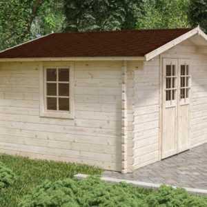 44 mm Gartenhaus ca. 400x300 cm Gerätehaus Blockhaus Holzhaus Holz Holzschuppen