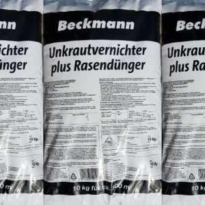 3 x 10 kg Beckmann Rasendünger plus Unkrautvernichter mit Langzeitwirkung