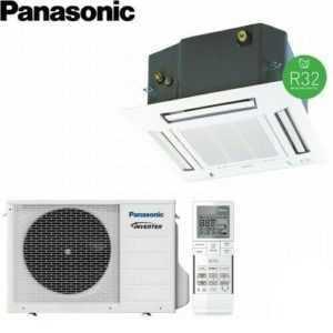 Panasonic Deckenkassette inkl. Blende Split Klimaanlage 3,5 kW A++/A++ R32; EEK A++