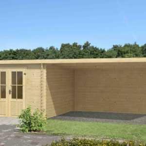 28mm Gartenhaus Amsterdam 3 ca 700x300 cm Gerätehaus Blockhaus Schuppen Holzhaus