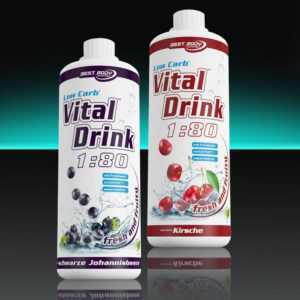 10,00€/Ltr. Best Body Nutrition 2 x 1 Ltr. Low Carb Vital Drink Mineraldrink