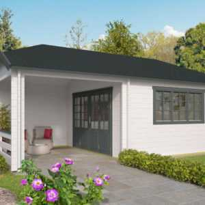44 mm Gartenhaus ISO-Glas 700x420 cm Blockhaus Holzhaus Gerätehaus Terrasse Holz