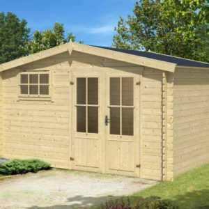 Gartenhaus ca. 400x300 cm Gerätehaus Blockhaus Schuppen Qualität Holz 28 mm