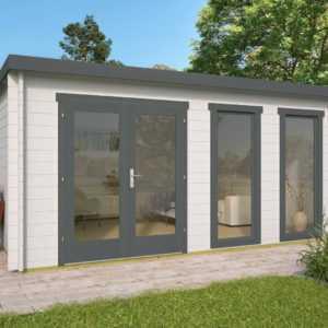 40 mm Gartenhaus 500x400 cm Holzhaus Gerätehaus Blockhaus Holz Holzhütte Haus