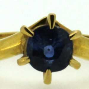 Saphir-Ring blau 750er Gelb-Gold 18 Karat Edelstein