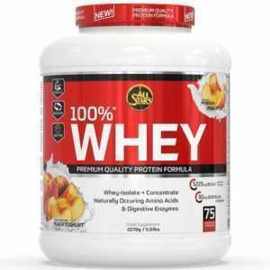 (20,18EUR/kg) All Stars - 100% Whey Protein 2270g Dose Wheyisolat + Konzentrat