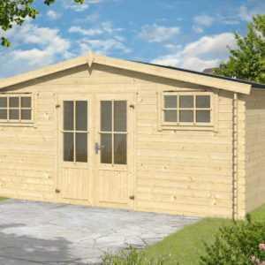 28mm Gartenhaus Vander 1 INKLUSIVE Montage ca. 500x300 cm Aufbau Gerätehaus Holz