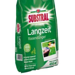 SUBSTRAL 8226 Langzeit Rasendünger in 9 Kg Packung